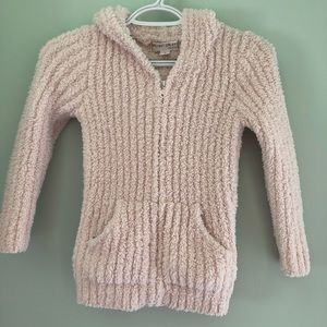 Barefoot Dreams cozy chic pink zip hoodie SMALL